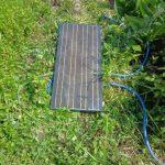 水不足!ソーラーポンプのテスト